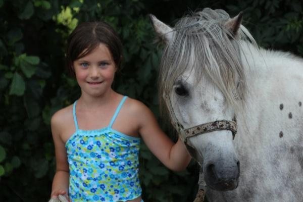 springen met beginners met pony